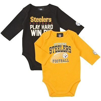 2 Long Sleeve Creeper (Pittsburgh Steelers Infant 2 piece long sleeve Creeper )