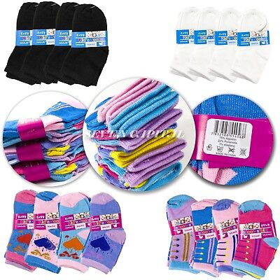 12 Pairs Multi Color NewBorn Baby Kids Infant Toddler Crew Soft Socks 0-12 Month - Newborn Baby Socks