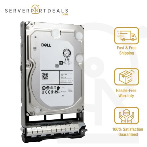"""Dell 400-AMPG 8TB 7200 RPM 512e NL-SAS 12Gbps 3.5"""" HDD in PowerEdge 13G LFF Tray"""