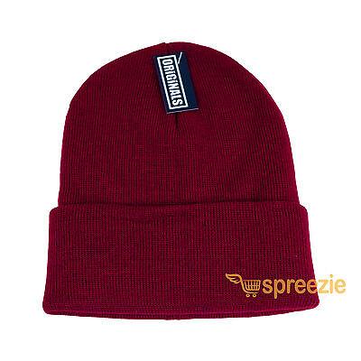 446523a1be6 Maroon Beanie Plain Knit Ski Hat Skull Cap Cuff Warm Winter Blank Unisex New