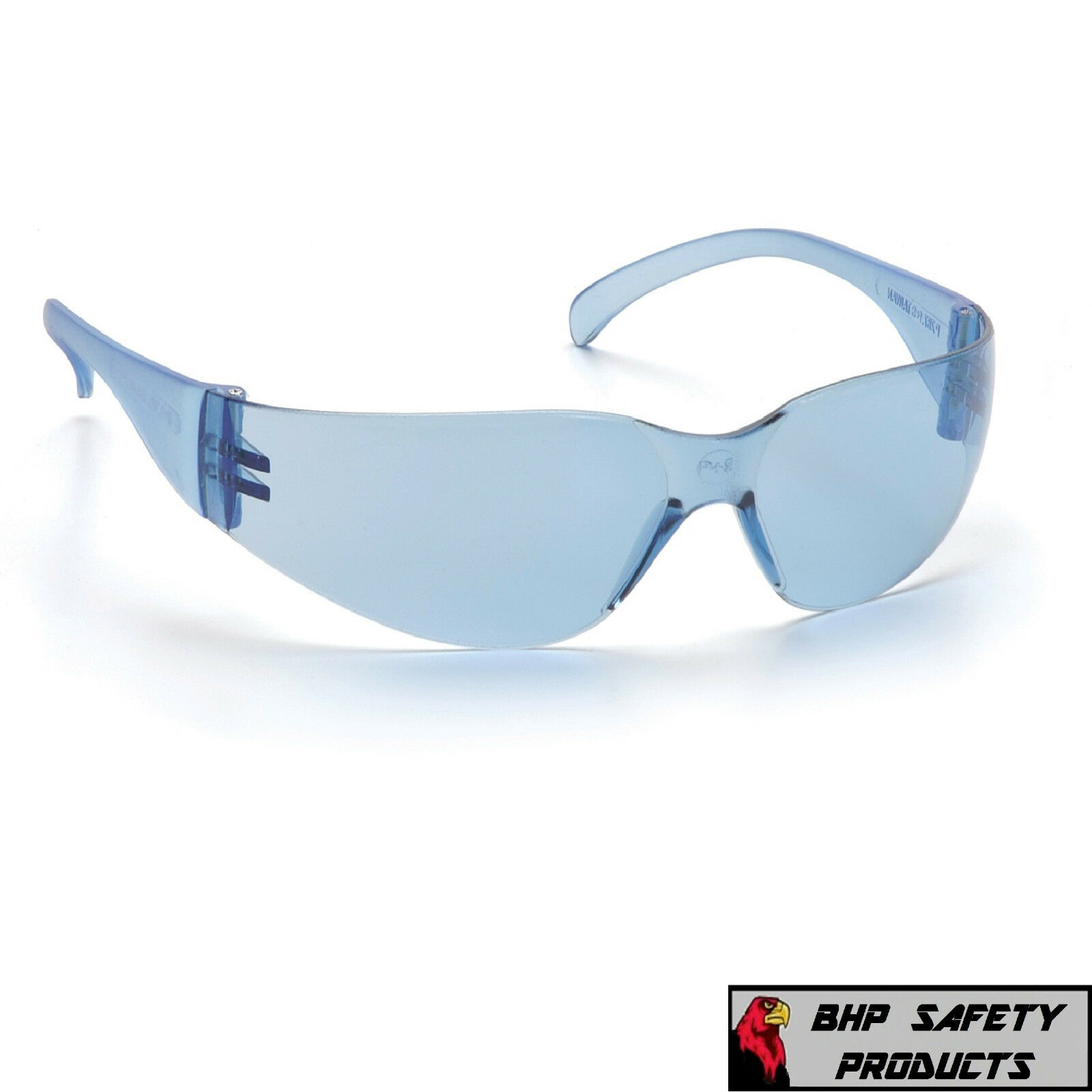 PYRAMEX INTRUDER SAFETY GLASSES ANSI Z87+ WORK EYEWEAR - LIGHTWEIGHT, SUNGLASSES Infinity Blue S4160S