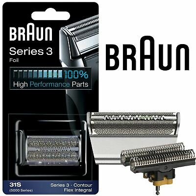 New Mens Braun 31S Replacement Foil & Cutter Head Combi Pack 5000 Flex Series Cutter Combi Pack