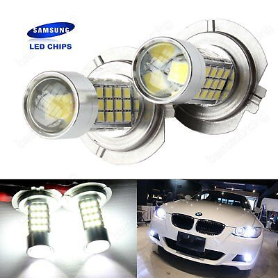 2x H7 499 Bulbs SAMSUNG LED 45W Projector HeadLight Main Daytime Fog Light White