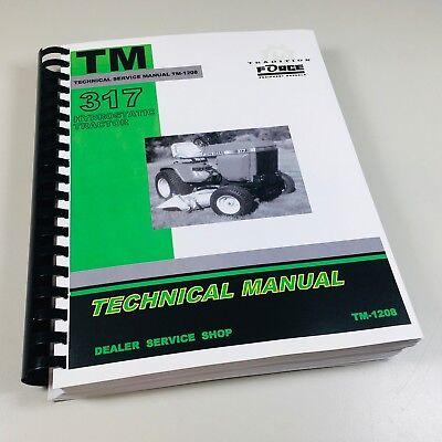 Technical Service Repair Shop Manual John Deere 317 Hydrostatic Mower Tractor