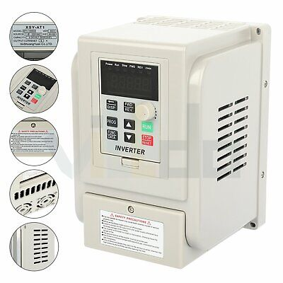 2hp 220v 1.5kw Variable Frequency Drive Inverter Vfd Single To 3 Phase Output