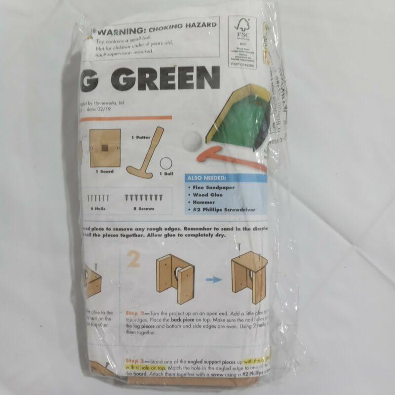 Home Depot Putting Green Kids Wood Workshop Kit New Sealed Craft