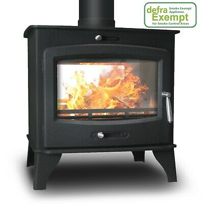Double-Sided Saltfire Woodburning Multifuel Stove Large DEFRA Approved
