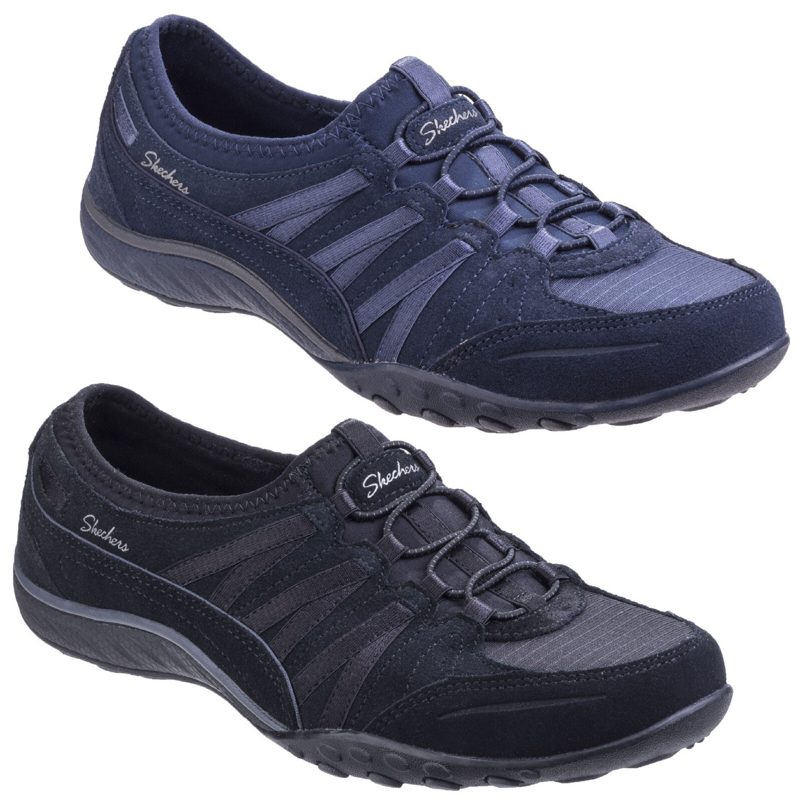 938324e15a9e Details about Skechers Breathe Easy Money Bags Trainers Womens Memory Foam  Slip On Shoes UK3-8