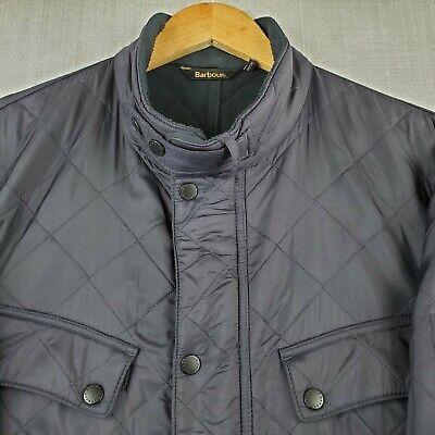 BARBOUR ARIEL POLARQUILT 2XL Mens Quilted Nylon Fleece Lined Jacket Coat Navy