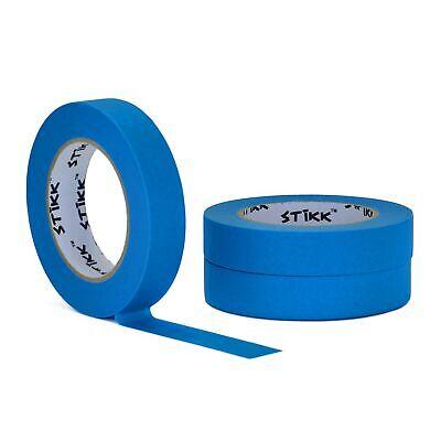 3 Pack 1 Inch X 60 Yard Rolls 24mm X 55m Stikk Sky Blue Painters Masking Tape