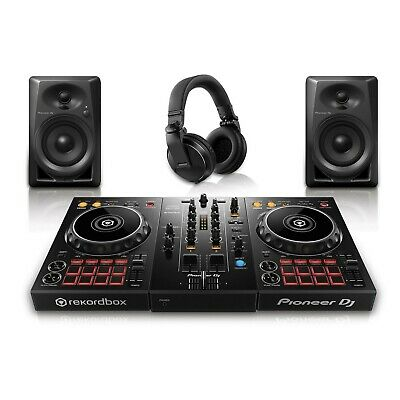 Pioneer PK-STP03 DDJ-400 DJ Controller, DM-40 Monitors,HDJ-X5 Headphones -Bundle