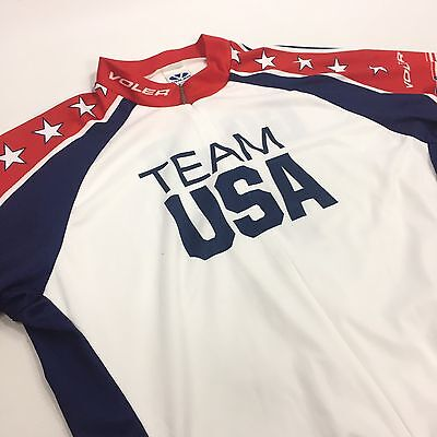 VOLER Team USA Ride for Gold Cycling Jersey Men s XL Club Raglan Made in USA  NEW c8295b589