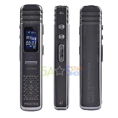 Digital Voice Recorder Audio Spy Vor Dictaphone Meeting Mp3 Music Player 8Gb