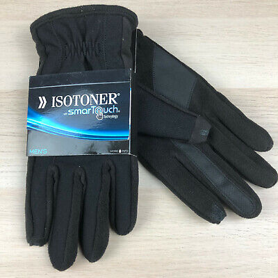 Isotoner Touch Screen Winter Gloves Black 700M1 Casual Gloves Mens Size M