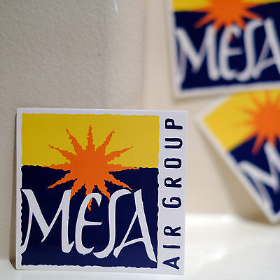 4125 Mesa Air Group Usa America Airlines Flight 3  Luggage Label Decal Sticker