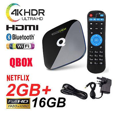 Q-BOX S905X  2GB/16GB KD 17.3 Amlogic Android 6.0 Dual WIFI Smart TV BOX