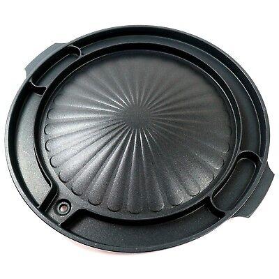 Queensense Korean BBQ Grill Pan For Stovetop Nonstick Aluminum Cooking Grill 16