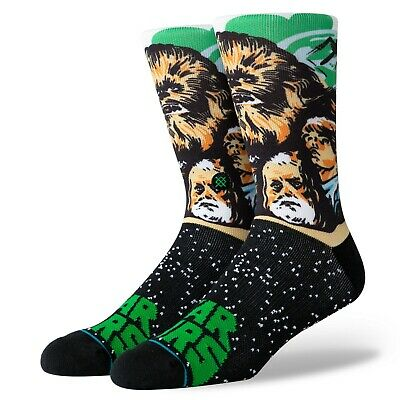 BNWT Stance x Star Wars Crew Socks Black Chewbacca Imperial Resistance Force