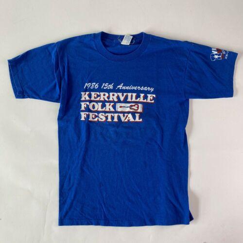 Vintage Folk Festival Tee 1986 Kerrville Folk Festival TShirt Music