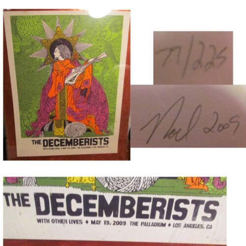 The Decemberists Silkscreen Concert Poster Other Lives Signed Numbered Waggener