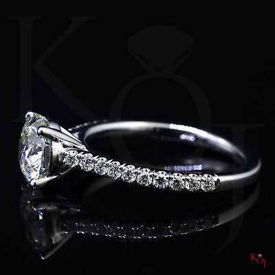 Classic 1.50 Ct. Round Cut Natural Diamond Engagement Ring F VS1 GIA 14k  3