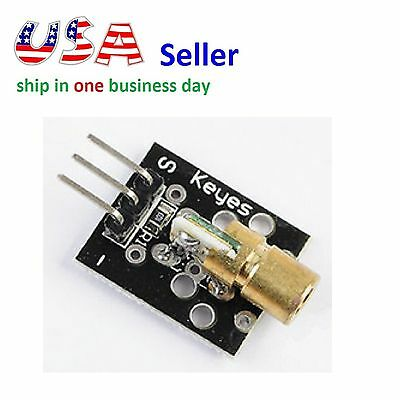 Laser Sensor Module 650nm 6mm 3v 5mw Red Laser Dot Diode Copper Head For Arduino