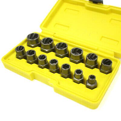 "13pc 3/8"" Drive Bolt Extractor Twist Socket Set Stud Nut 1/4"" - 19mm Metric SAE"
