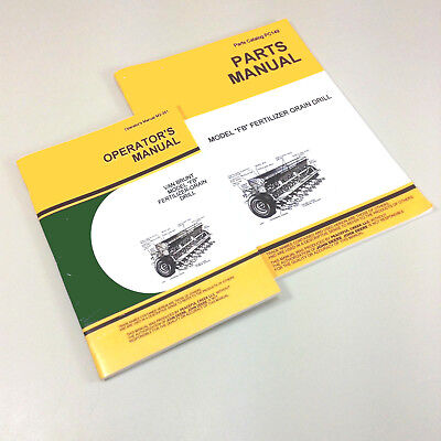 Operators Parts Manuals For John Deere Van Brunt Fb 107 10x7 Grain Drill Owners