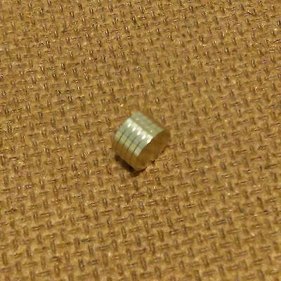 5 N52 Neodymium Cylindrical 14 X 132 Inch Cylinderdisc Magnets.