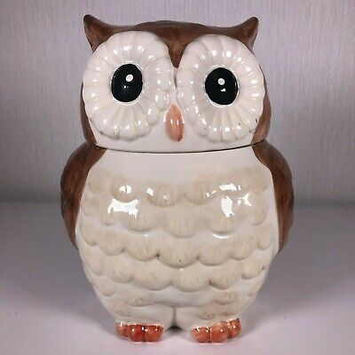 Better Homes And Garden OWL Ceramic Cookie Jar Earthenware Heritage (Better Homes And Gardens Owl Cookie Jar)