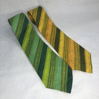 1960s – 70s Men's Ties | Skinny Ties, Slim Ties Key West 2 Vintage 1970s 1960s Mod Cotton Key West Ties Tie Green Gold $19.99 AT vintagedancer.com