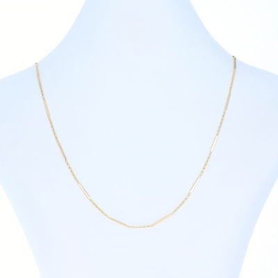 """Rolex Fancy Scroll Chain Necklace 18"""" - 18k Yellow Gold Designer France"""