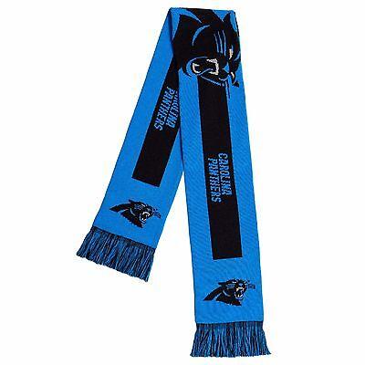 Carolina Panthers Scarf Knit Winter Neck - Double Side Big Team Logo New 2016 - Carolina Panthers Scarf