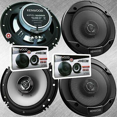 2 Paar Kenwood KFC-1666S 6.5 Zoll 300 Watt 2-Wege-Auto-Audio-Tür-Koaxiallautsprecher