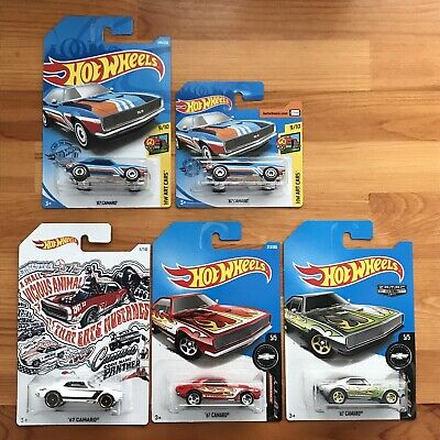 Hot Wheels Regular Short Card Treasure Hunt '67 Chevy Camaro Lot (5)