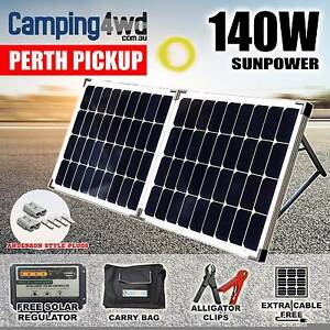 140W 12V Folding Solar Panel Kit + Regulator + Bag Caravan Campin Wangara Wanneroo Area Preview