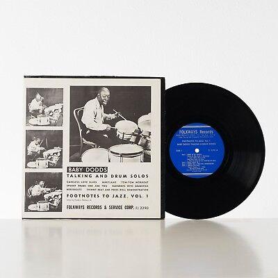 "Baby Dodds - Talking and Drum Solos - Vinyl LP - 10"" - 1951"