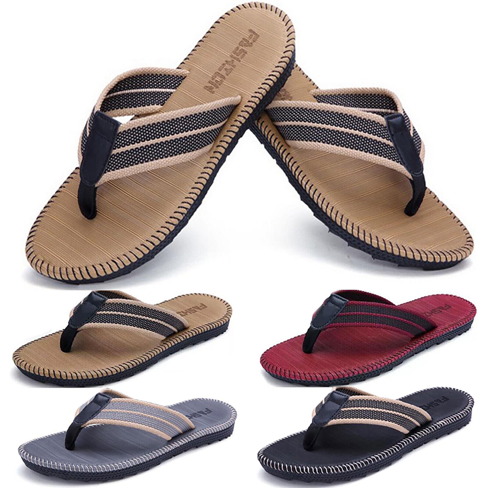 Men's Sandals Flip Flops Beach Pool Thongs Casual Summer Sport Shower Slippers 1