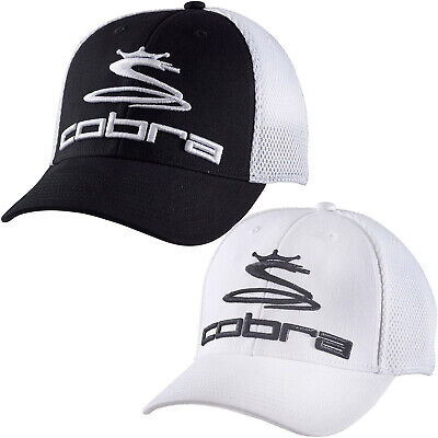 Cobra Mens Pro Tour Mesh Casual Sports Adjustable Snapback Baseball Cap Hat Polyester Pro Mesh Cap