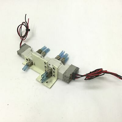 Lot Of 3 Smc Sy3120-5gu-m5 Solenoid Valves Voltage 24vdc Pressure 0.15-0.7mpa