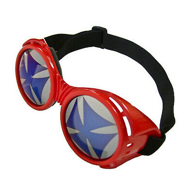 Adult Teen Biohazard Apocalypse Mad Scientist BMX Rave EDM Costume Red Goggles