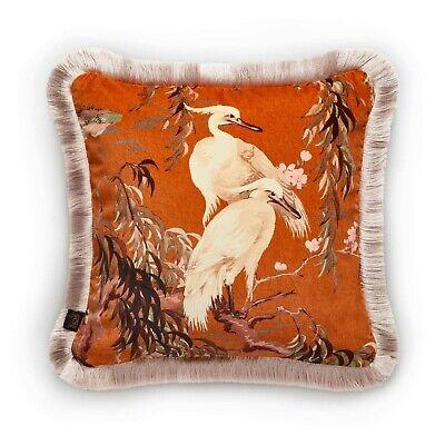 House of Hackney ZEUS Medium Fringed Velvet Cushion - Tobacco, RRP £165.00 BNWT