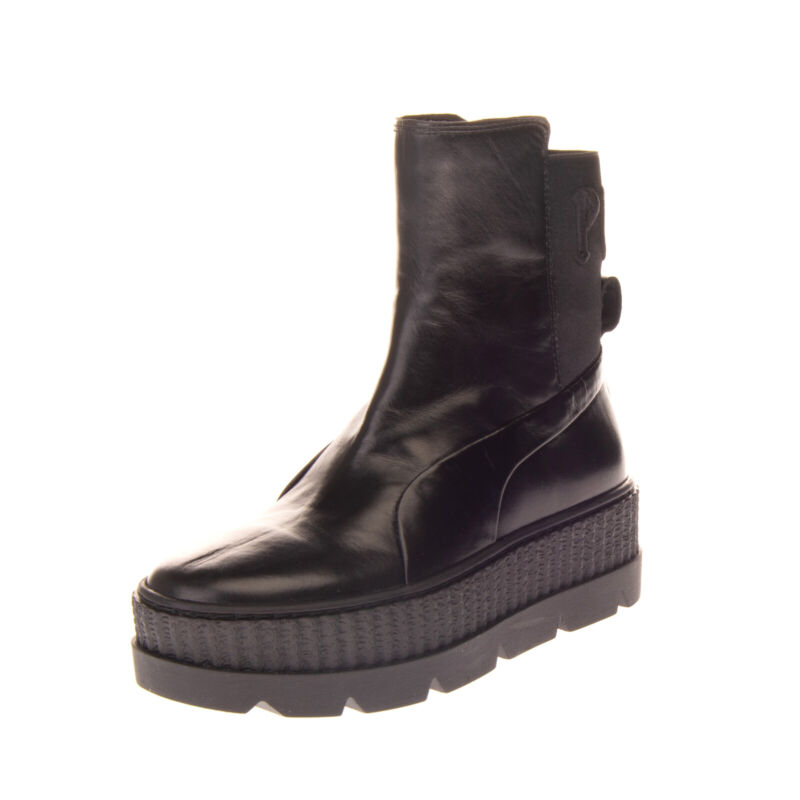 RRP€150 FENTY PUMA By RIHANNA Leather Chelsea Sneaker Boots EU 41 UK 7.5 US 10