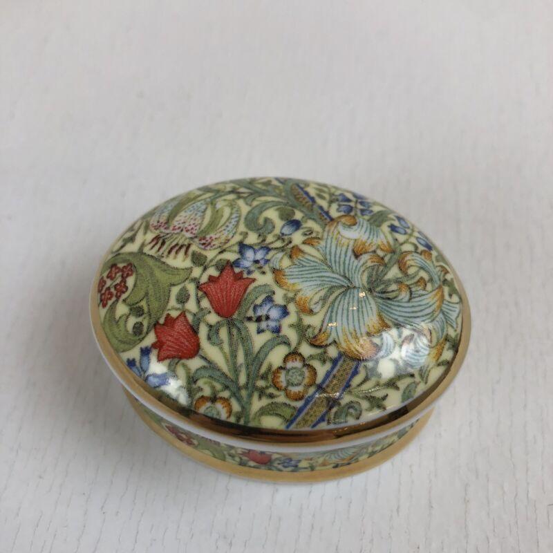 Museum Collection William Morris JH DEARLE GOLDEN LILY Porcelain Trinket Box