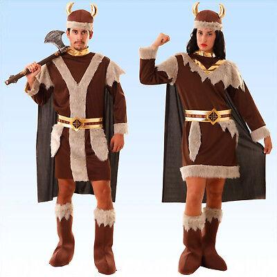 Kostüm Wikinger oder Wikingerin 4-teilig Gr. S - XXL Vikinger -