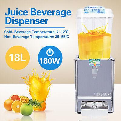 18l Cold Hot Juice Beverage Dispenser Fruit Ice Tea Frozen Drink