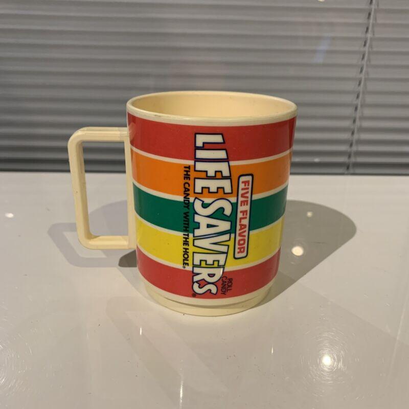 Vintage Deka Plastic Life Savers Coffee Mug Sippy Cup Drink Glass No Lid