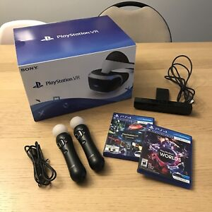 PSVR (PlayStation VR) bundle with games & Move controllers