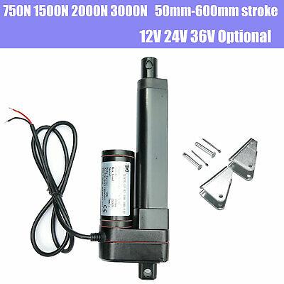 Electric Linear Actuator Cylinder Lift Stroke 750n-3000n 50-600mm Dc 12v 24v 36v