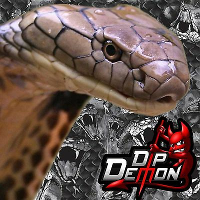 Black Transparent Cobra Snake Film Hydrographic Water Transfer Hydro Dipping